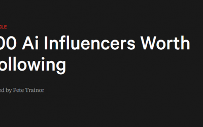 Pete Trainor (BIMA): 100 AI Influencers Worth Following